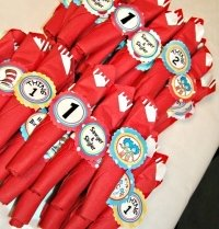 thing 1 and 2 party napkins