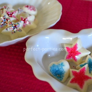 chocolate stars and hearts