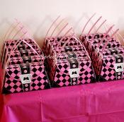 pink skull favor boxes