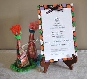 halloween handmade invitation