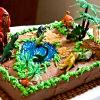 dinosaur scene cake