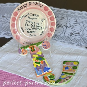 kids paint your own pottery birthday party