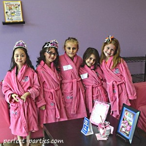 spa kid birthday party