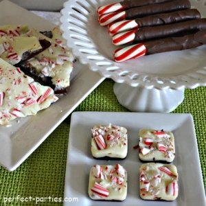 peppermint bark squares