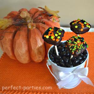 halloween brownie pops