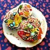 candy topped cupcake