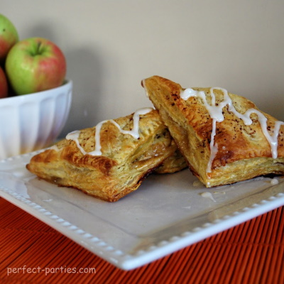 Apple Turnovers made with Puff Pastry
