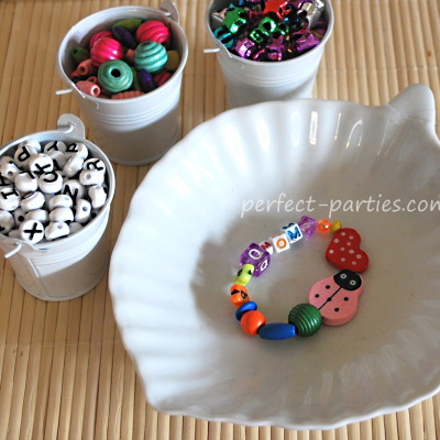 Make these bead bracelets for birthday parties.