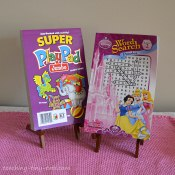 There are many types of puzzle books from mazes, fun pads, sticker books, color books and even Sudoku for kids.