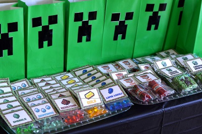 Minecraft Goody Bags - 100 images - free printable minecraft ...