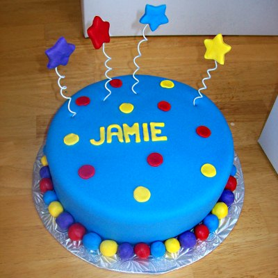 Blue Wiggles Smash Cake