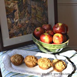 Our apple strudel muffin recipe.