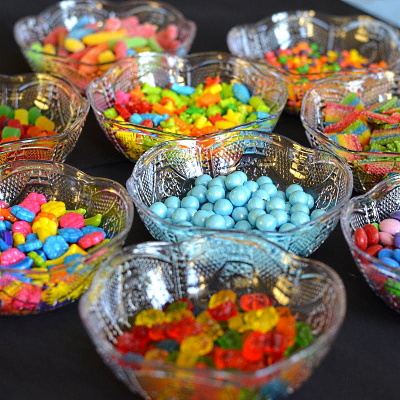Candies to decorate cupcakes.