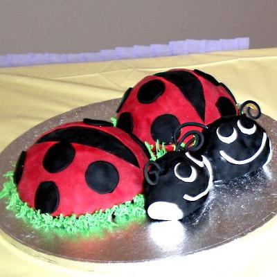 Small Ladybug Cakes