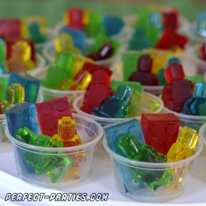 lego gummies in portion cups for kid parties