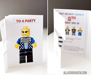 free printable lego invitation
