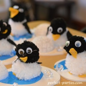 Penguin Pom Pom Craft
