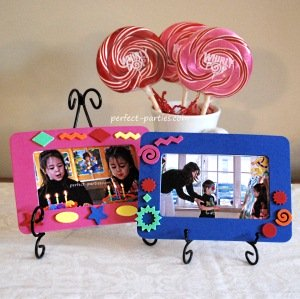 See our photo frame ideas for a party make and take.