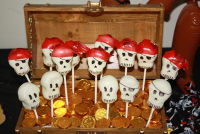 Pirate Cake Pops in Chest of Gold