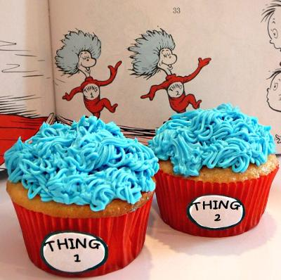 Thing 2 and Thing 2 Cupcakes
